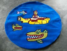 "RARE Beatles Yellow Submarine Plush Rug Carpet Wall Hanging Art Large 60"" Dia."