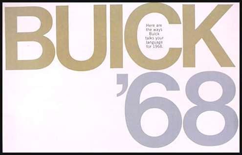1968 Buick Brochure GS400 GS350 Wildcat Skylark LeSabre Electra 225 Riviera 68