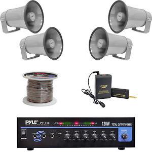 Strange 8 1 Pa Horn Speakers Mono Mic Amplifier Speaker Wiring Lavalier Wiring Cloud Venetbieswglorg