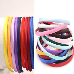 10pcs wine satin covered plastic headbands 15mm satin headband