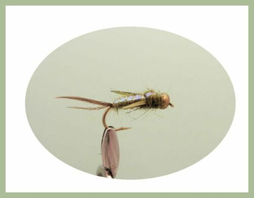 Mixed 10//12 Evil Weevils Trout Flies.18 Pack Mixed Colours Fishin Flies SF1i