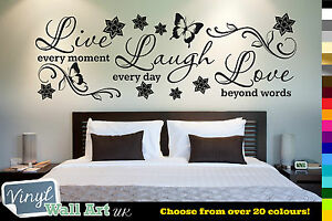 Vinyl-Wall-Art-Quote-Live-Laugh-Love-Wall-Sticker-Vinyl-Wall-Art-Home-Decal