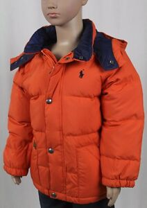 NWT Polo Ralph Lauren  BOYS DOWN HOODED JACKET PUFFER COAT,SIZE M//L #M
