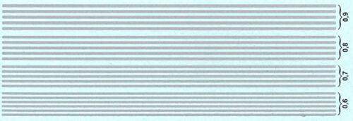 Rayas efecto de cromo 0,6-0,9 mm Stripes Chrome effect 1:43 decal estampados