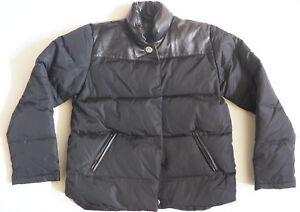 cuir Moyen en poches à duvet en Manteau noir Coach wqnSB4npx
