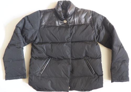Coach duvet en cuir Moyen noir poches à en Manteau zZF0wqvx