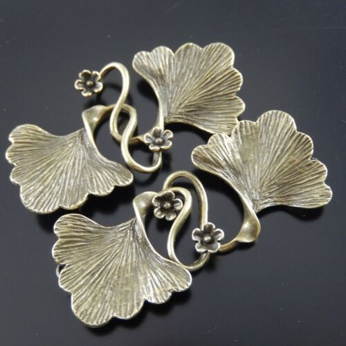 8pcs Antique Style Bronze Tone Brass Fashion Leaf Charm Clasp Finding 04625
