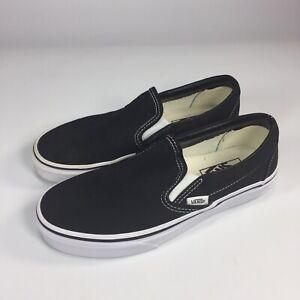 VANS 500714 Womens 7 37 Black Canvas Slip On Sneakers Skate ...