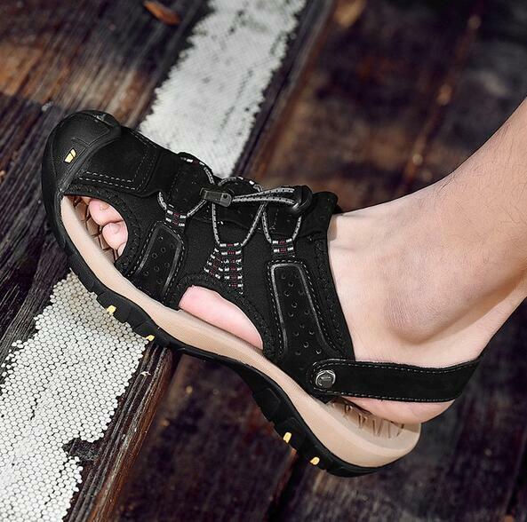 Para Hombre Puntera estrecha huecos Resbalón en Zapatillas Sandalias de playa de vacaciones Nuevos Zapatos sin Taco