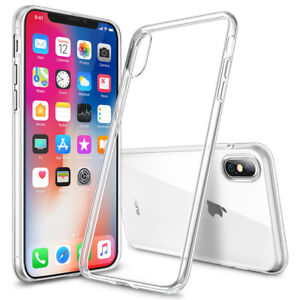 promo code f0542 1ba9f Details about iPhone X Clear Gel Case. Drop Protection Silicone Shock  Absorption Phone Cover