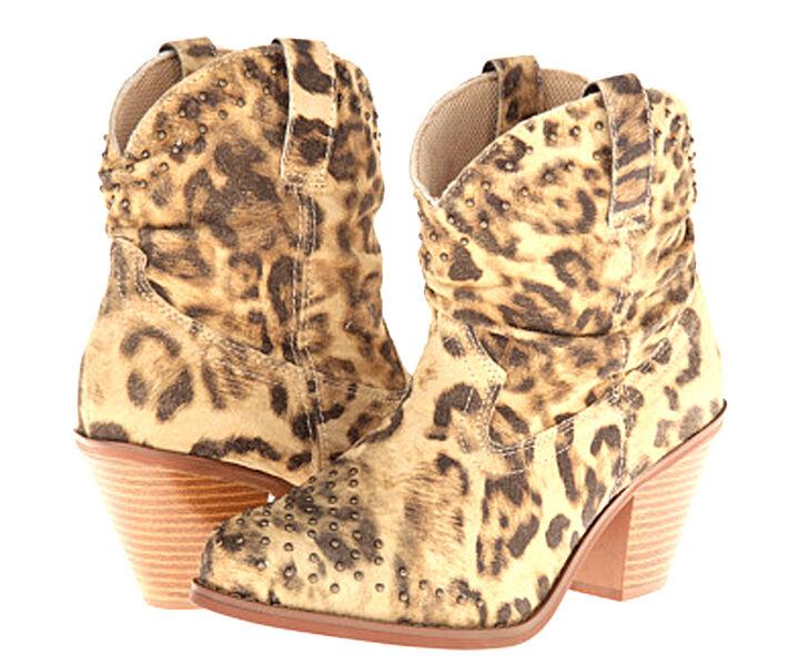 Nuevo Dingo Para Mujer meeeow meeeow meeeow Western Slouch botas Leopard Print De Cuero Talla 6.5 3bac74
