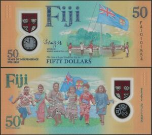 FIJI  PNEW B532 50 DOLLARS 2020 50th Independence Comm @ EBS