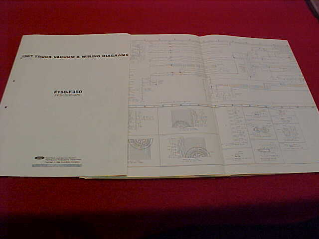 1987 Ford F 150 250 350 Pickup Truck Electrical Wiring Diagram Service Manual 87
