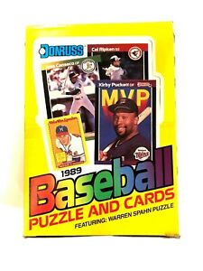 1989-DONRUSS-BASEBALL-Wax-Pack-Box-OF-36-Count-Poss-KEN-GRIFFEY-JR-SMOLTZ-RC-039-S