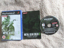METAL GEAR SOLID 3: SNAKE Eater/COMPLETO (SONY PLAYSTATION 2, 2005) ps2