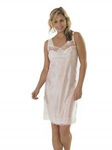 4b7d2251a775 Ladies Marlon Petticoat Under Dress Full Slip{Build Up Shoulder{PINK ...