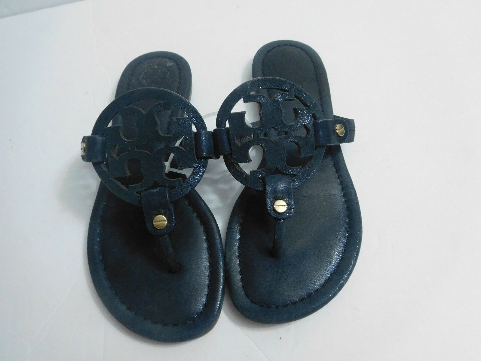 B-405 Tory Burch 'Miller' Flip Flip Flip Flop  Leather (Women) Sz 4 M  195.00 a577f8