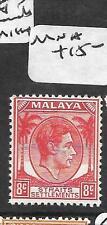 MALAYA STRAITS SETTLEMENTS (P2302B) KGVI  8C RED UNISSUED  MNH