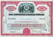 Erie Lackawanna Railroad Company Stock Certificate RR Norfolk Southern NS