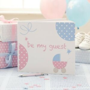 Delightful Image Is Loading TINY FEET Guest Book Baby Shower Message Advice