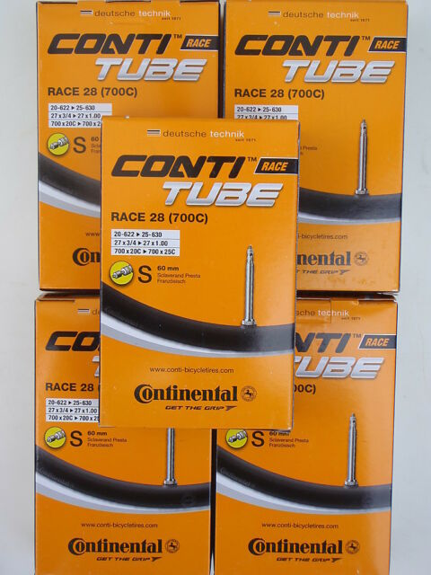 Continental Race 28 Road Bike Tubes 700C 18-25mm 60mm Valve 5 Pack *New*
