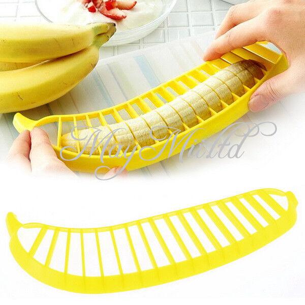 Banana Slicer Chopper Cutter for Fruit Salad Sundaes Cereal Kitchen Tools JM