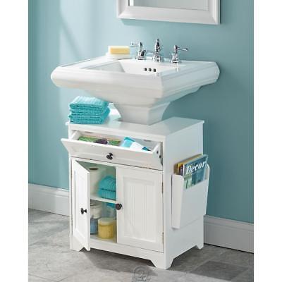 The Pedestal Sink Surround Storage Cabinet Bathroom Vanity ...