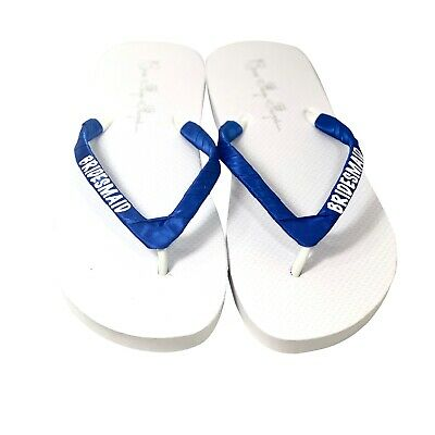 Bride bridal party-all sizes for ladies and girls-custom initial monogram Navy Glitter on White any color Bridesmaid Flip Flops
