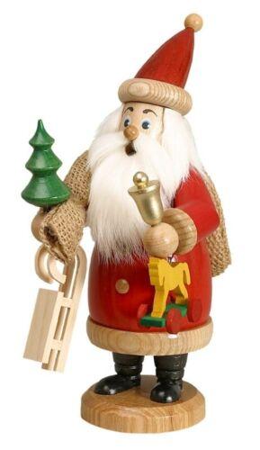 116-3-990//R DWU Räuchermann Weihnachtsmann Rot mit Geschenke