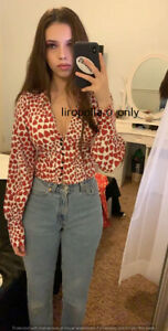 VINTAGE-BLOUSE-hearts-LONG-SLEEVE-TOP-size-S-M-L