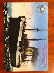 Postkarte-Schnelldampfer-Deutschland-1924