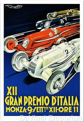 Gran Premio D'Italia XII Poster Fine Art Lithograph Pliny Codognato S2