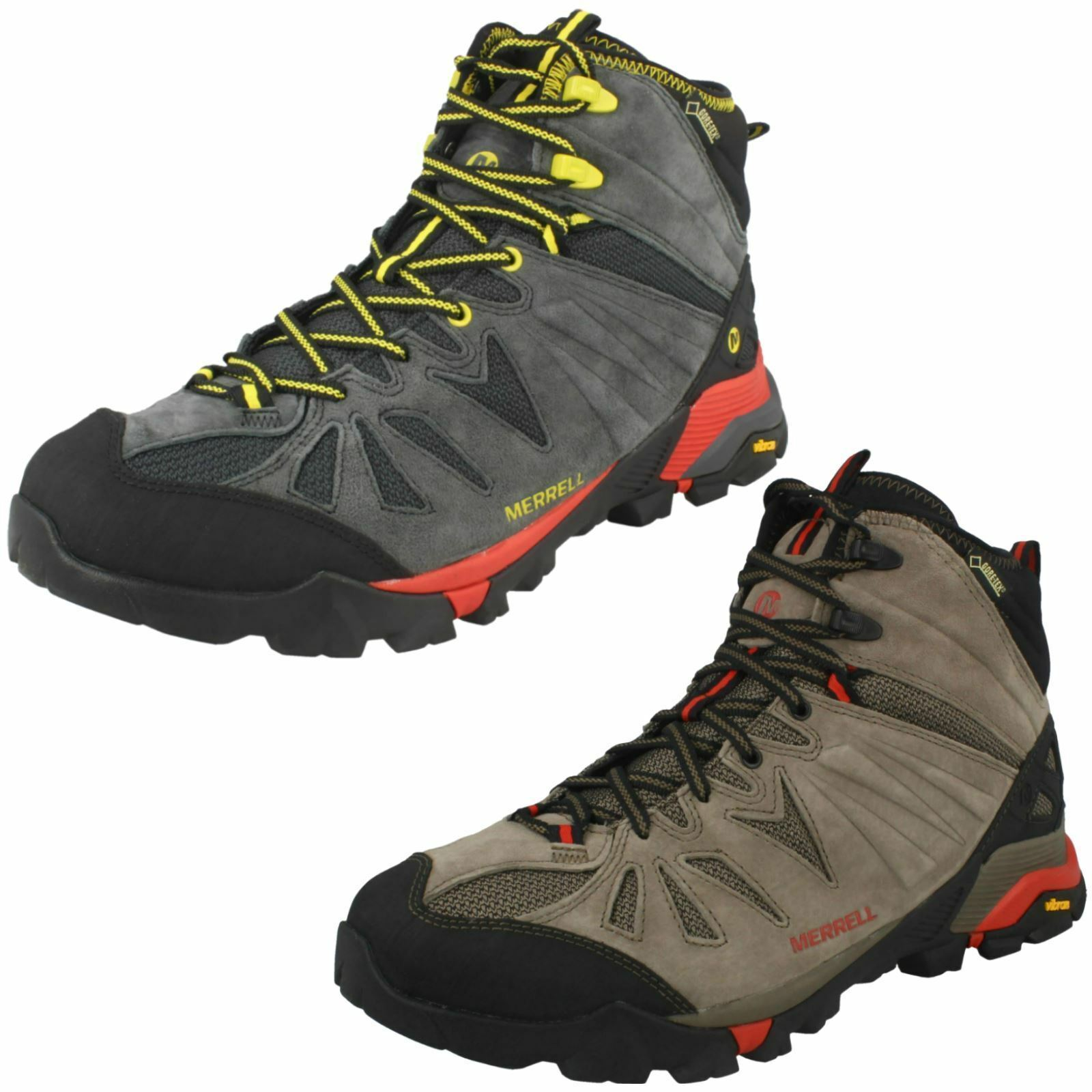 MENS MERRELL CAPRA MID GORE-TEX LACE UP LEATHER WALKING HIKING BOOTS SIZE