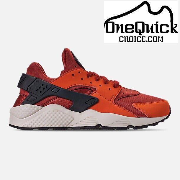 Nike Air Huarache Mens 318429-802 Firewood Orange White Running Shoes Size  10