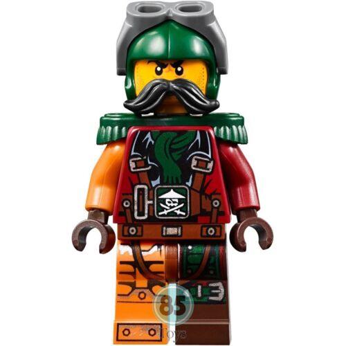 Lego minifigure njo197 Ninjago Flintlocke gun from set 70605 Epaulettes