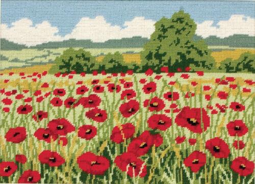 Tapestry Kit de costura de Campo Amapola 1x herramienta de Artesanía Hobby Art Reino Unido a granel filoro