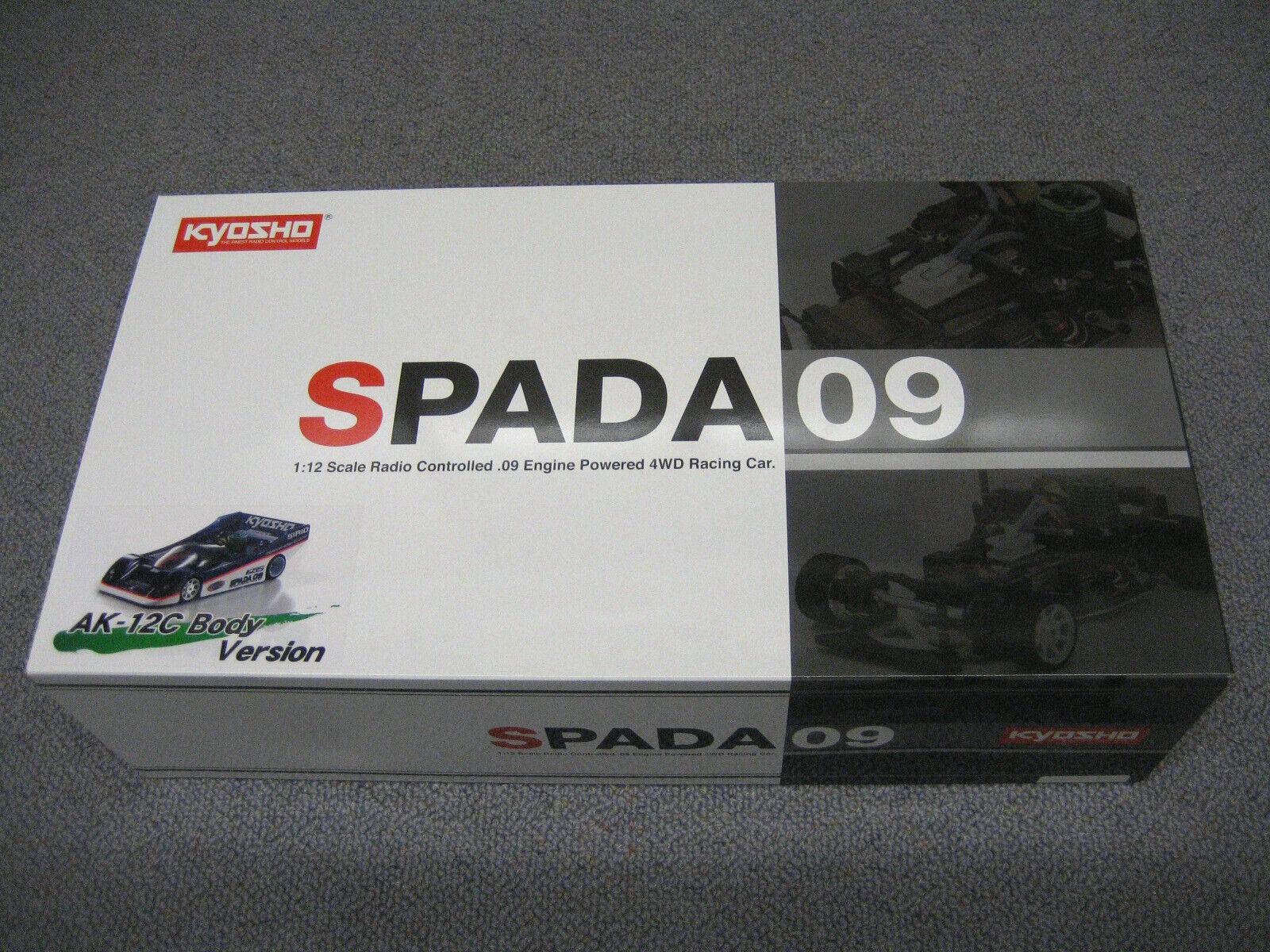RC Kyosho KIT Spada 09 AK-12C corpo versione No.31322 Nuovo Nuovo Con Scatola 2007 (Tamiya)
