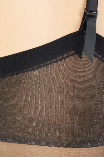 Straps-Calze TRIXIE il 20-NERO-S-L con glitzfäden