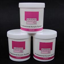 120g Pink Clear White Jumbo Super Large Acrylic Powder Builder Nail Art Tips Kit