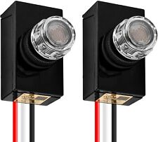 Dusk To Dawn Photocell Sensor Switch Outdoor Hard Wired Post Light Ac120v 2 Pack