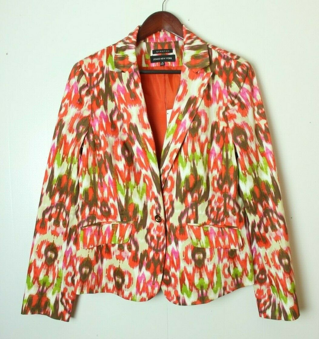 Jones New York Women's Size 10 One-Button Blazer