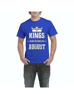 KINGS ARE BORN IN OCTOBER GOLD PRINT MENS T SHIRT FUNNY COOL GIFT IDEA FOR DAD