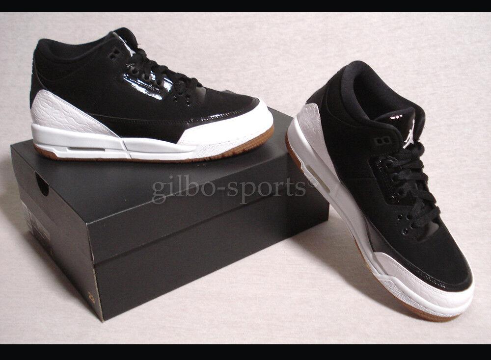 Nike Jordan 3 Retro GG schwarz WEISS  Gr. 40 Neu 441140 022 retro schwarz weiß
