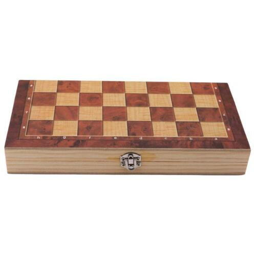 Large Chess Wooden Set Folding Chessboard Magnetic Pieces Wood Board LB