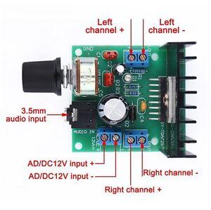 Mini Digital Amplifier Stereo Audio 12V Amp Board 15W+15W Dual Channel Car Speak