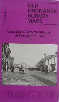 OLD ORDNANCE SURVEY MAP LISNASKEA NEWTOWNBUTLER UPPER ERNE 1900 BAWNBOY