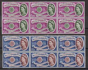 1961 Europa. Superb unmounted mint blocks x 6. Superb unmounted mint. Cat £66+