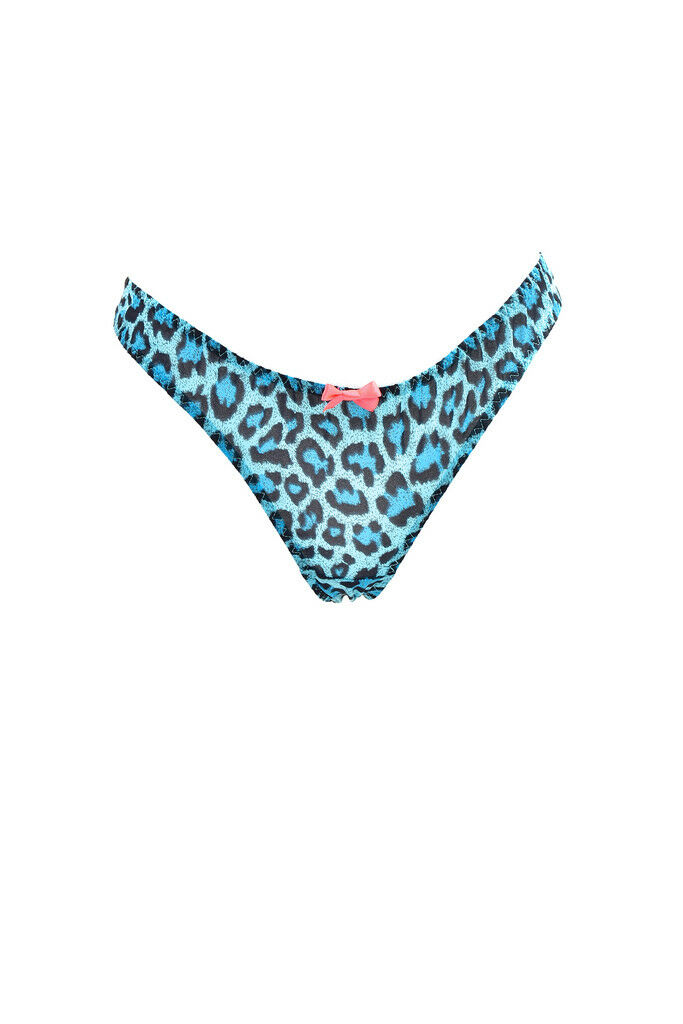L'Agent by Agent Provocateur Women's  Animal Printed Brief bluee S RRP  BCF87