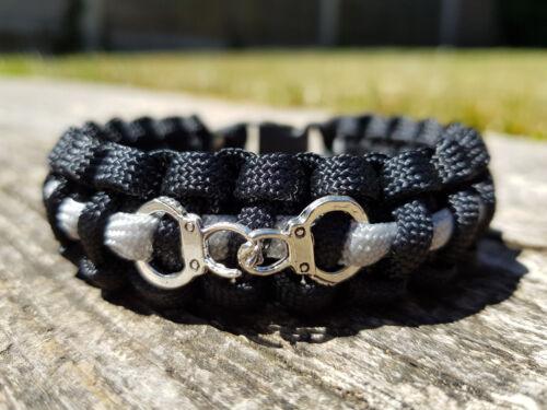 La Mince gris ligne service pénitentiaire//officier//Correctional Paracord Bracelet