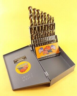 """Drill Hog USA 9//64/"""" Cobalt Drill Bits M42 Drill Bit 12 Pack Lifetime Warranty"""